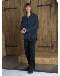 W Concept - Flannel Pyjama Shirt _ Green - Lyst