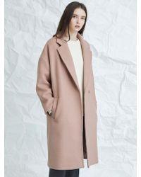 MILLOGREM - Muted Pink Snap Coat Pink - Lyst