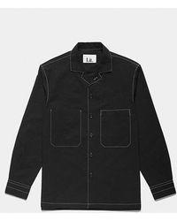 LIT. - Stitched Cotton Pocket Shirts Black - Lyst