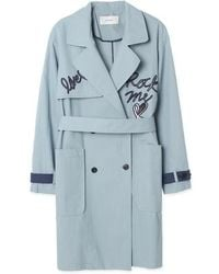 a.t.corner - Flap Embroidery Trench Coat Amh26a322ll - Lyst