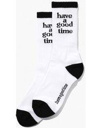 W Concept - [unisex] Logo Socks White - Lyst