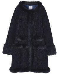Jin Jin Island - Fluffy Faux Fur Coat - Lyst