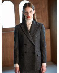 COLLABOTORY - Bacma5001m Nomcore Double Breasted Jacket Dark Gre - Lyst