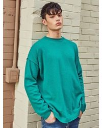 LIUNICK - Round Pullover Wool Oversize Knit Green - Lyst
