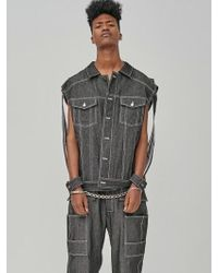 DOZOH - Over-sized Handcuffs Trucker Jacket - Lyst