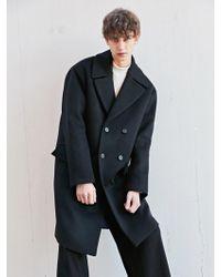BONNIE&BLANCHE - Moment Double Overfit Coat Black - Lyst