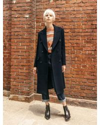 COLLABOTORY - B7cma3004m Double Classic Tailored Wool Coat - Lyst
