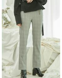 Clue de Clare - Side Zipper Pants-check - Lyst