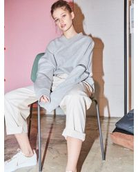 NOHANT - Two Way V-neck Sweatshirt Gray - Lyst