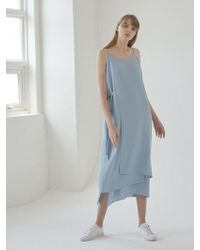 NILBY P - Sleeveless Layered Dress Blue - Lyst