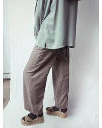 W Concept - Via Check Parazzo Pants - Lyst