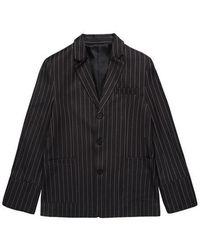 Charm's - Big Cuffs Jacket Gray - Lyst