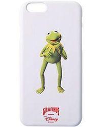 W Concept - Kermit Sup Iphone Case Whte - Lyst