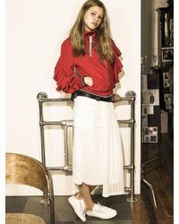 OUAHSOMMET - Multi-length Pleats Skirt_wh - Lyst