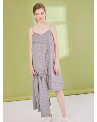 W Concept - Trellis Unbalanced Splicing Draping Dress - Lyst