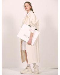 W Concept - [unisex] Cream Over-sized Mac Coat - Lyst