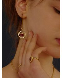 FLOWOOM - Orbit Earrings Gold - Lyst