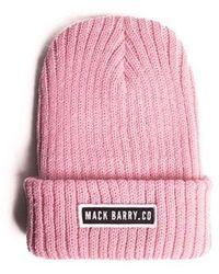 MACK BARRY - Holdup Beanie Pastel Pink - Lyst