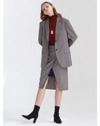 1159 STUDIOS - [xmunn]co Selvage Skirt Check - Lyst