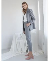NILBY P - 18sn Suit Pants Gy - Lyst