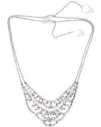 VIOLLINA - Another V Stone Statement Necklace Set - Lyst