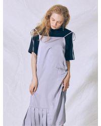 MIGNONNEUF - Club Robe Bustier Grey - Lyst