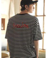 Chubasco - M T Shirt Of Stripe Black M17109[unisex] - Lyst