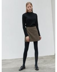 NILBY P - Wrap Mini Skirt Brown - Lyst
