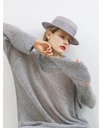 AWESOME NEEDS | Lambs Wool Boater Hat_grey | Lyst