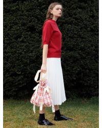among - A Cotton Bucket Bag Check - Lyst