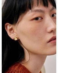 Low Classic - 17fw Earlobe Earring - Gold - Lyst