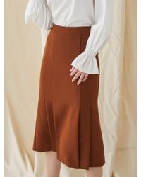 MILLOGREM - Mermaid Pleated Skirt - Red Brown - Lyst