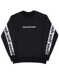 FRESH ANTI YOUTH - ] Band-crew Neck Sweater - Blackw - Lyst