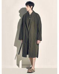MONOPISPA - Men Buffalo Robe Coat Poplin Olive - Lyst