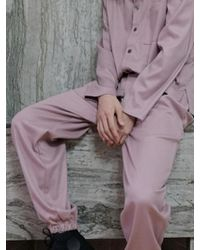 W Concept - [unisex] Lounging Trousers Dusty Pink - Lyst