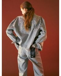 Bouton - Round Denim Pants-grey Washed - Lyst