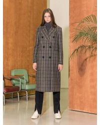 COLLABOTORY - B7cma3001m Double Tailored Coat Check - Lyst