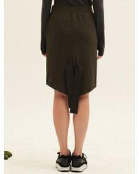 W Concept - Ribbon Detail On Back Skirt Kh - Lyst