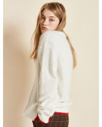 Clue de Clare - Oversize Angora Knit White - Lyst
