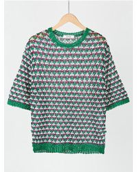MOIMOII - Color Blend Short Sleeve Round Knit - Lyst