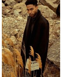 OVERR - Side Postcard Black Coat - Lyst