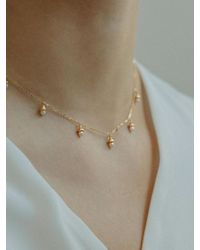 W Concept - Pearl Bell Necklace - Lyst