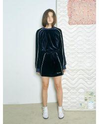 Baby Centaur - Baby Velvet Mini Dress Navy - Lyst