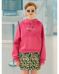ANOTHER A - Vivid Crop Hoodie Pink - Lyst
