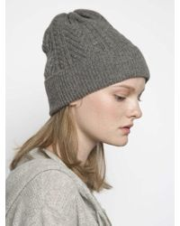 MADGOAT - [unisex] Cashmere Cable Knit Beanie-grey - Lyst