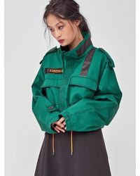 DOZOH - Off Patched Jacket - Lyst