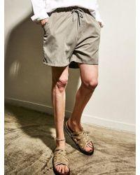 YAN13 - Comfortable Banding Trousers Grey - Lyst