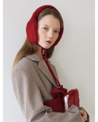 Awesome Needs - Hand Made Lambs Wool Knit Ear Muff_deep Red - Lyst