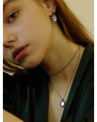 FLOWOOM - Rose Frame Oval Earrings - Lyst