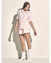MONOPISPA - Women Marilyn Short Sleeve Pj Set Terry Pink - Lyst